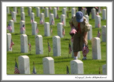 Memorial Day Grave Decoration, Dayton National Cemetery, Dayton, Ohio