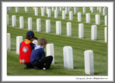 Memorial Day Grave Decoration, Dayton National Cemetery, Dayton, Ohio