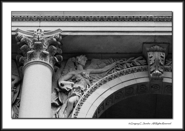 Architectural detail on the exterior of the Art Institute of Chicago.